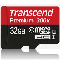 45MB/s Brand Transcend TF Flash Memory Card 300x 32GB TF microSDHC Card Class 10 UHS For Gopro hero3 Samsung Lenovo Phone Tablet