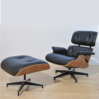 eames lounge chair and ottoman living room furniture leisure chair leather plywood chair