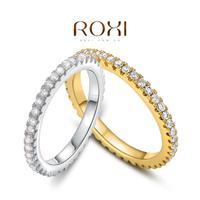 ROXI Christmas Gift Classic Genuine Austrian Crystals Fashion Gear Ring 100% Man-made Big OFF Christmas