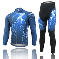 Original Brand Lightning Mountain Bike Sportswear Suit MTB Bicycle Clothing Set Long Sleeve Cycling Bib Pants Cycling Jersey