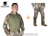 Kryptek Mandrake Emerson bdu G3 uniform shirt & Pants with knee pads Emerson BDU airsoft waregame uniform MR