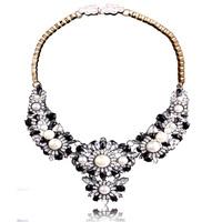 New 2014 chunky choker statement necklace fashion Shourouk Crystal necklace & pendant pendant Luxury bib Necklace women