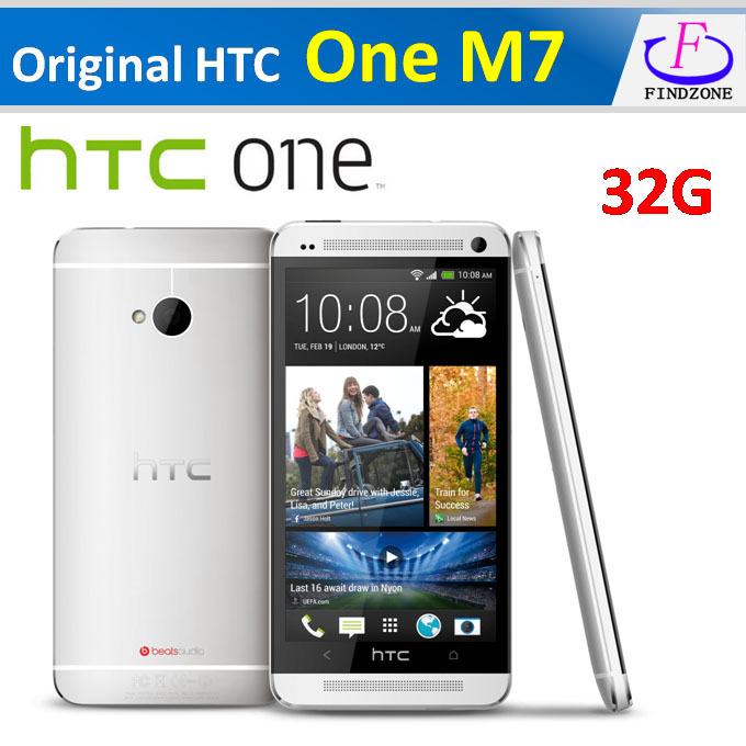 Hot Original HTC One M7 Android 4.4.2 sense 6.0 32GB Quad-core 1.7GHz 4.7''1920x1080 Super LCD 3 HD NFC, Refurbished phone(China (Mainland))