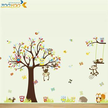 Koop hot verkoopen aap muurstickers voor kinderen kamers zooyoo1212 babykamer - Room muur van de baby ...