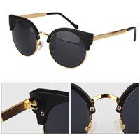 Hot Sale New Unisex Vintage Cat Eye Sunglasses Retro Round Girls Fashion Sun Glasses For Ladies 6 Colors Drop Shipping 008