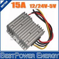 High Quality 3 Years Warranty DC-DC Converter 24V-5V, 12V-5V 15A Step Down Power Converters 75W LED Power Supply