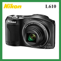 Original Nikon L610 photo camera 16MP full HD 14x Optical Zoom Digital camera Telephoto shot for the moon class vision Black&Red