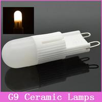 1x G9 LED Lamps Mini 220V 230V 3W 5W Ceramic Crystal Corn Bulb Droplight Chandelier COB SMD Spot Light Dimmable