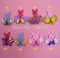 in stock Free shipping 160PCS/LOT=80pairPeppa pig friend Hairpin Clip Hair Ornament BB Clamp Clip Baby Hair Clip+Hair band