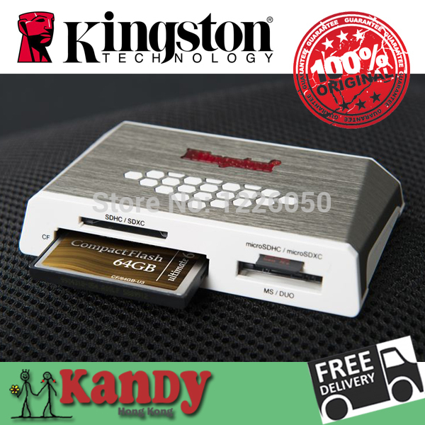 Kingston Card reader USB 3.0 all in one cardreader CF micro SD SDHC SDXC UHS-I microSD Memory Stick PRO Duo MS otg card computer(China (Mainland))