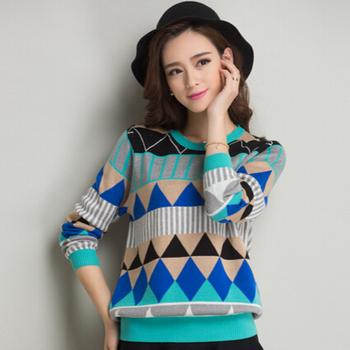 Новый 2015 свитер женщины мода пуловеры рубашка с длинным рукавом inverno трикотаж ...