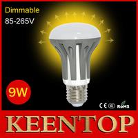 Ultra Brightness Dimmable E27 SMD2835 LED Lamps AC85V-265V 9W LED Bulb Light Spotlight Chandelier Crystal Wall Lighting R63 6Pcs