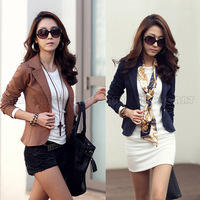 Women OL Jackets Coat Lapel One Button Long Sleeve Outerwear Short Suit Blazer  PQ284
