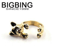 BigBing Fashion jewelry fashion accessories quality gold ring dog ring 2 styles fashion jewelry J833