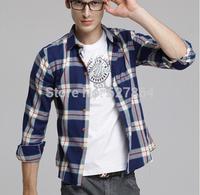 2014 Spring Fashion New Long Sleeve Shirts Men,Korean Slim Design Casual Shirts,Hotsale Cotton Dress Shirts,Plus Size XXXL
