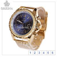 100% Brand New Dress Watch Men ORKINA Brand Luxury Watches Stainless Steel Quartz WristWatch Fashion 2014-ORK-0429