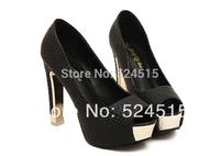 new 2014 Open Toe summer platform shoes high heels women genuine leather sandal white/ black princess shoes women pumps boots