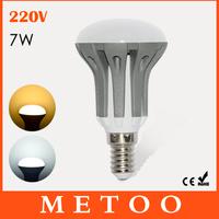 New Arrival Bulbs E14 7W 2835 SMD 220V Energy Saving led lamps, white / warm white crystal chandelier Lighting 12PCS/LOT