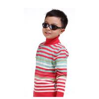 2014 NEW Model Children Winter Bottoming Sweaters Size 90-130 cm Turtle Neck Fashion Stripe Design Boys Warm Pullovers