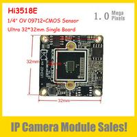 "32*32mm Ultra Size IP Camera Module 1.0Megapixel (Hi3518E DSP+ 1/4"" OV 09712+ CMOS Sensor) Support P2P Onvif Smartphone Review"