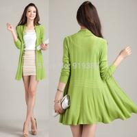 New 2014 Spring Autumn Women sweater Girl Plus Size Slim Cardigans Coat Knitted Long Sweater women trcotado free shipping