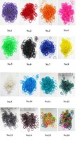 1000 packs/lot 2014 new rubber band normal color loom bands  300pcs + 12 S clip + 1 hook 11 colors available