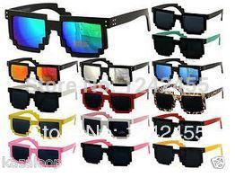 2015 vintage sunglasses Minecraft CPU 8 Bit Pixel Wayferer Pixelated Geek Novlety Sunglasses Vintage Leopard Print oculos de sol(China (Mainland))