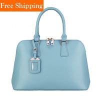 New Arrival First Layer Of Cowhide Women's Handbag 2014 Shell Bag Tote Designers Logo Brand Bag Hot Celebrity Shoulder Bags
