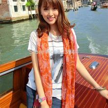 popular blue and orange scarf