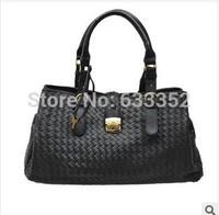 HOT!!!2014 women's type woven handbag vintage fashion one shoulder bag PU Leather bags women messenger bag Free Shipping