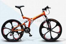 """TOP Quality Rockefeller 2014 Brand New R100 Bicicleta Mountain Bike Folding 26 """" Mountain  Bicycle Disck Break Cycling Bike"""