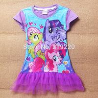 Frozen&my little pony children Girls' Dress summer dress girl's tutu girl  princess dress girl's lovable dress free shipping