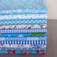 40cm*50cm 11pcs Blue Cotton Fabric Kids BeddingTextile For Sewing Fat Quarter Quilting Patchwork Tilda Doll Cloth