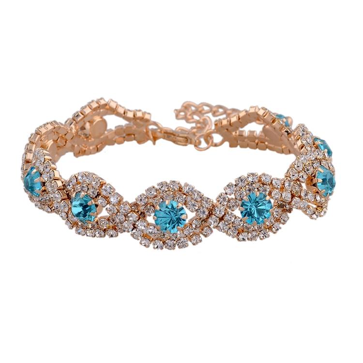 Wedding Accessories Gold Silver Bracelets Fashion Jewelry Rhinestone Bracelet Bangle Chain Bracelet For Women SBR140169(China (Mainland))