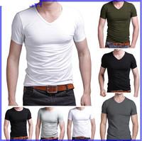 2014 Summer New Arrival Men Clothing Fitness Modal Man T Shirt Sportswear Fashion Short Shirts Mens Tshirt Solid Tops & Tees