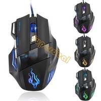 2014 New Arrival Hot Sale 3200 DPI 7 Button LED Optical USB Wired Gaming Mouse Mice For Pro Gamer Freeshipping #2 SV002748