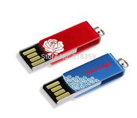 Free DHL shipping Wholesale custom 100pcs/lot metal Mini USB Flash Drive memory stick 128MB/1GB/2GB/4GB/8GB/16G/32GB/64GB