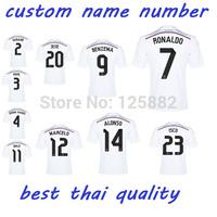 14-15 Season Real Madrid Home, 7# Ronaldo thai quality soccer Jersey,football shirt,14-15 real madrid white jersey