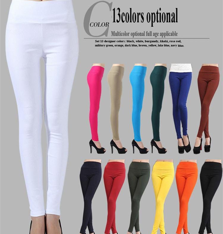 2015 autumn winter new fashion Womens Candy Color Pants sport leggings women's Pencil sweatpants plus size Trousers Size S-6XL(China (Mainland))