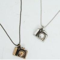 Fashion mini retro camera necklace, Sweater Necklaces 11g Bronze / ancient silver xl044