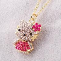 fashion cute  rhinestone Short necklace jewelry xl007