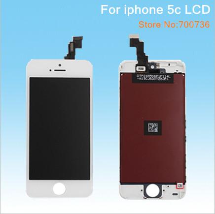Noir/blanc, lcd téléphone mobile pour iphone 5c assemblée lcd écran tactile numériseur livraison gratuite