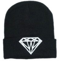 2014 New Diamond Beanies For Men And Woman Skullies & Beanies Knitted Caps Free Shipping Winter Fashion Hats