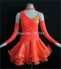 Hot-sale 2013 Rumba Jive Chacha Latin Dance Dress Ballroom Dress Latin Costume Women T-0015
