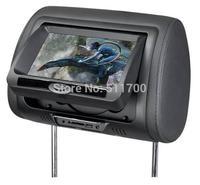 2x 7 Inch Car Headrest DVD Player,Zipper Cover,FM Transmitter,IR,USB,SD,Wireless Game,MP4/MP5 Player Headrest Monitor,480x234