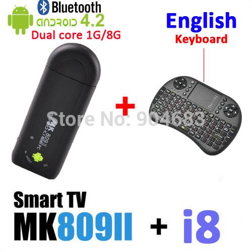 Мини ПК Winnervision MK809II /android + i8 /bluetooth TV Stick RK3066 1.6 1 8 Rom MK809II+i8 EN-AAA кабели межблочные аудио tchernov cable classic mk ii ic rca 1 65m