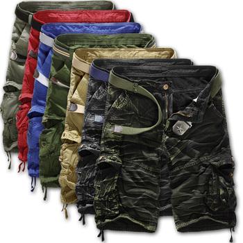 2014 shorts masculino Camouflage Cargo Military Shorts Men Outdoor Cotton Loose Running Shorts Men Army Short Pants Bermuda