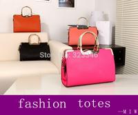New 2014 Designer Women's PU Leather Handbags Fashion Shoulder Bag Graceful Women Messenger BagsTotes Free Shipping