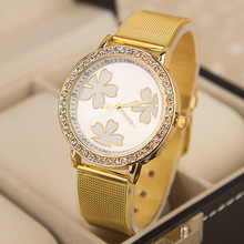Women dress watches Fashion women rhinestone watches Woman diamond bracelet watch Gold band watches 2014 new clock-EMSX10XA11(China (Mainland))