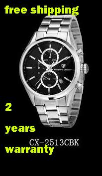Promotion Price Pagani Design Brand New Sports Chronograph Calibre 300M Luxury Gift Wristwatch Fashion + Original box (CX-2513C)(China (Mainland))